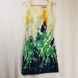 Eliza J Floral Jacquard Sleeveless Dress, Sz 2